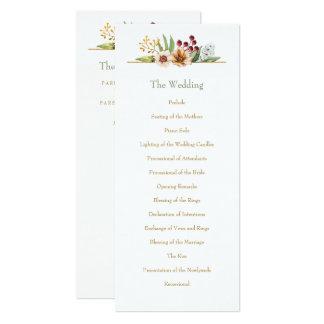 Autumn Wildflower Watercolor Wedding Gold Card