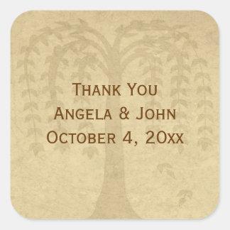 Autumn Willow Tree Sticker