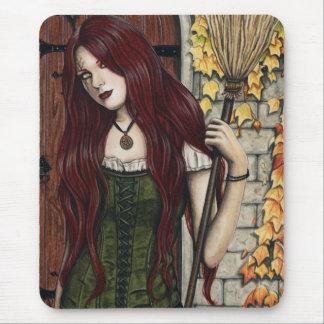 Autumn Witch Gothic Fantasy Art Mousepad