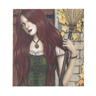 Autumn Witch Gothic Fantasy Art Notepad