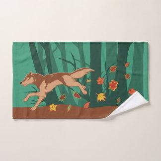 Autumn Wolf Bath Towel Set
