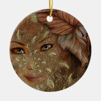 Autumn Wood Nymph Personalized Ornament