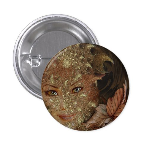Autumn Wood Nymph Round Buttons