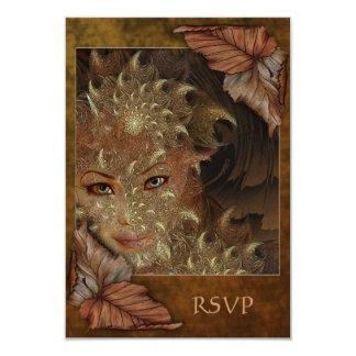 Autumn Wood Nymph RSVP Cards 9 Cm X 13 Cm Invitation Card