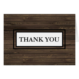 Autumn Wood Texture Thank You Note Card