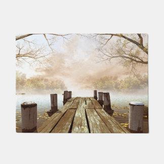 Autumn Wooden Pier Doormat
