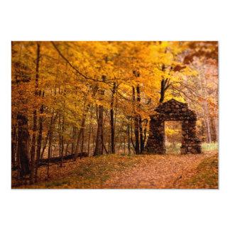 Autumn Woods 13 Cm X 18 Cm Invitation Card