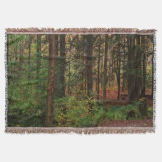 Autumn Woods Afghan Throw Blanket