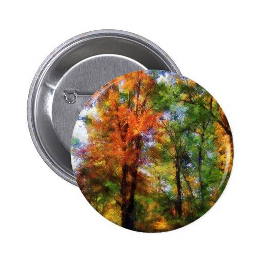 Autumn Woods Button