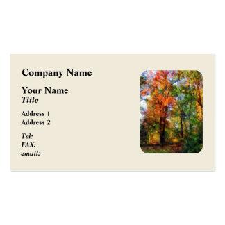 Autumn Woods Business Card Template