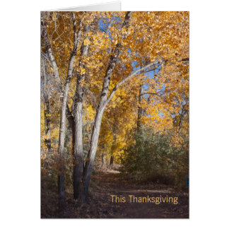 Autumn Woods Business Thank You Card