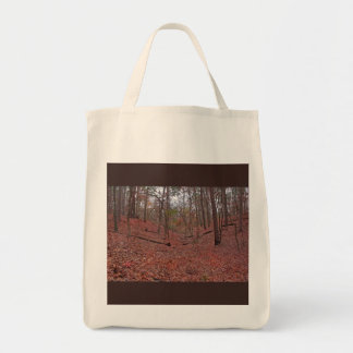 Autumn Woods photo canvas grocery tote Grocery Tote Bag