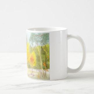 Autumn Woods Watercolor Coffee Mug