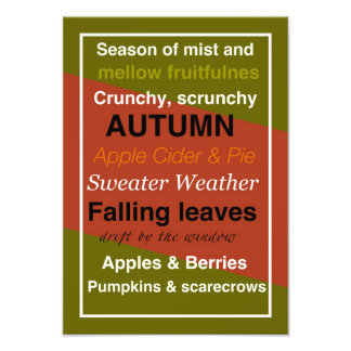 AUTUMN WORD ASSOCIATION PHOTOGRAPHIC PRINT