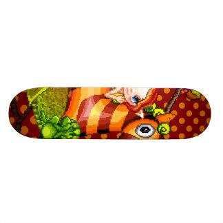 Autumn Zebra Pixel Art Skate Board