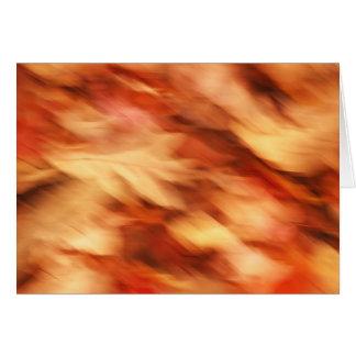 Autumnal blur card