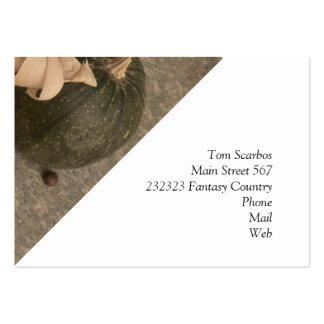 autumnal decoration business cards