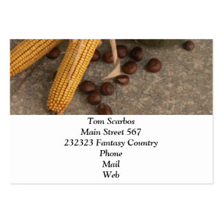 autumnal decoration business card templates