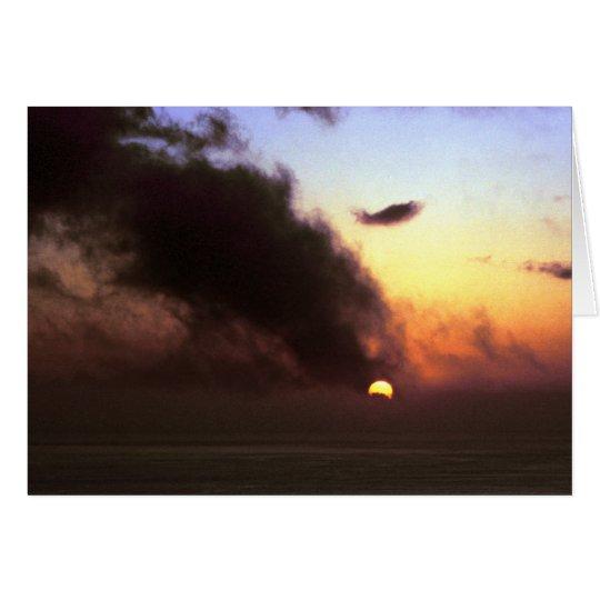 Autumnal Equinox Sunset From Kaluna Cliff Card