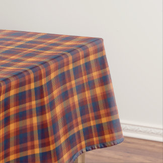 Autumnal Fall Earth Tones Plaid Tablecloth