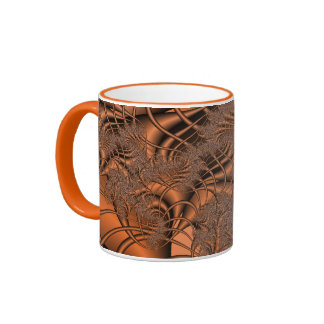 Autumnal Fractals Ringer Mug