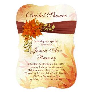 Autumnal leaves Bridal Shower Invitation