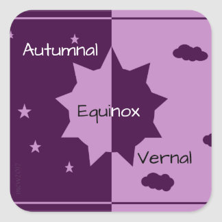 Autumnal/Vernal Equinox Mabon Harvest Home Square Sticker