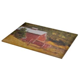 Autumn's Black Hills Barn Cutting Board Western