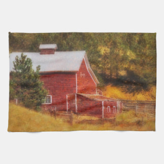 Autumn's Black Hills Barn Kitchen Towel Western