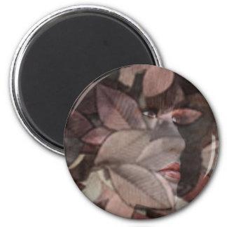 Autumn's Face Fridge Magnet