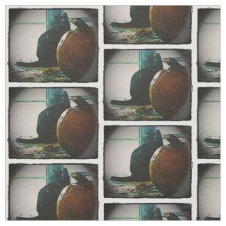 Autumn's Finest Cat and Pumpkin Duo Fabric
