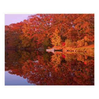 Autumn's Reflection Photo Print