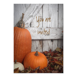 Autumn's Smile Customizable Invite