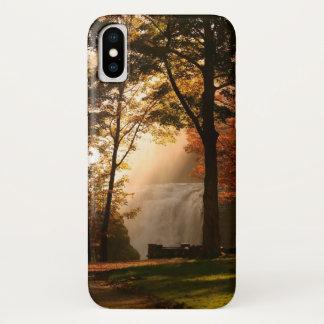 Autumns Waterfall Mist iPhone X Case