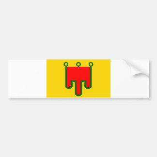 Auvergne flag french region france country bumper sticker