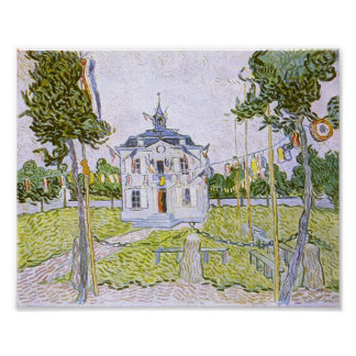 Auvers Town Hall 14 July 1890, Vincent van Gogh Poster