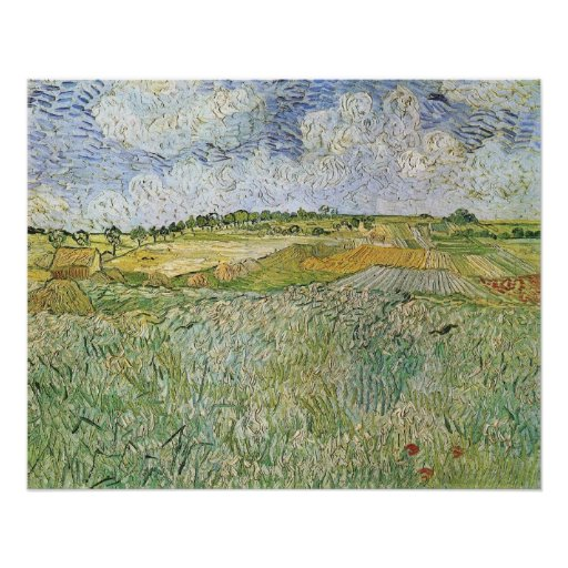 Auvers with rain clouds by Vincent van Gogh Print