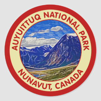 Auyuittuq National Park, Nunavut, Canada Classic Round Sticker