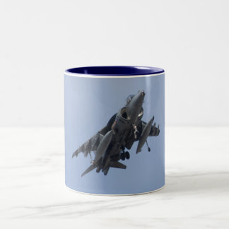 AV8B Harrier head On mug
