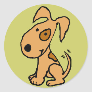 AV- Tail Wagging Puppy Stickers