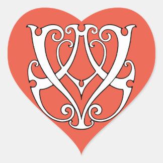 AV / VA Monogram Heart Sticker