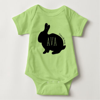 Ava Easter Bunny Babies Top Girls Spring Pastel