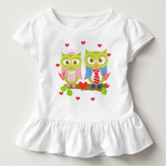 Ava Loves Oliver Owl Ruffle T Shirt