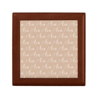 Ava - Modern Calligraphy Name Design Small Square Gift Box