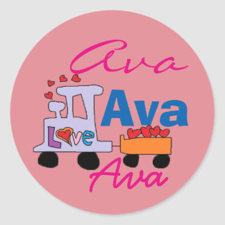 Ava Name Stickers