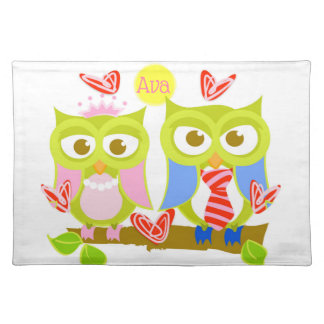 Ava + Oliver Owls Cotton Placemat
