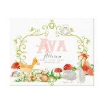 Ava Top 100 Baby Names Girls Newborn Nursery Stretched Canvas Print