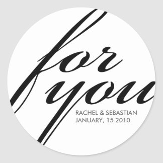 Ava Wedding Collection: Favor Label