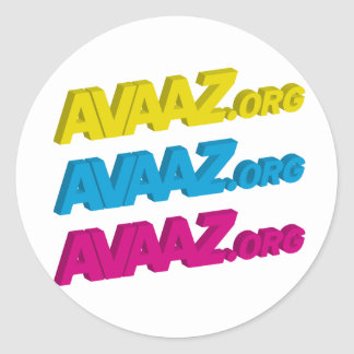 Avaaz Circular Sticker