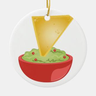 Avacado Dip Ceramic Ornament